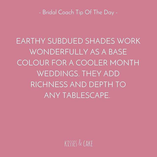 Bridal Coach Tip of the Day #DominiqueFlowersSydney #Earthy #TableSetting #WeddingStyling #WeddingPlanning #WeddingInspiration #WeddingDecor #TheBridalCoach #KissesAndCake #KissesAndCakeWeddings