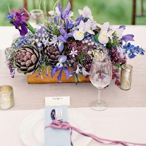A beautiful and unique artichoke center piece perfect for any summer wedding #Summer #SummerWedding #Artichokes #CenterPiece #WeddingStyling #TableSetting #WeddingPlanning #WeddingInspiration #TheBridalCoach #KissesAndCake #KissesAndCakeWeddings   Image:Wedding Photographer: Jose Villa // Floral + Event Design: Joy Thigpen // Wholesale Flowers: FiftyFlowers via bellethemagazine.com