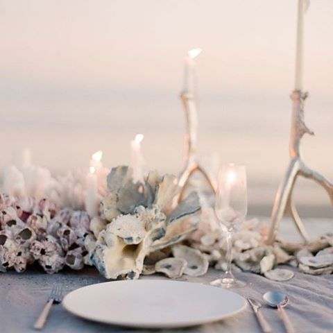 Candlelit dinner on the beach, such what glamorous inspiration for your reception dinner #Beach #Candlelight #Dinner #Reception #Candlelit #WeddingDecor #WeddingInspiration #WeddingPlanning #TheBridalCoach #KissesAndCake #KissesAndCakeWeddings | Image: Jose Villa Photography