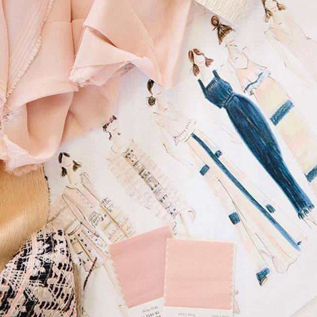 Matching Pantone colors to designs... If you are looking to get your dresses made make sure you take samples with your dress designs so the dressmaker can tell you which fabrics will work for the dress! These are some of @laurenconrad gorgeous designs. #laurenconrad #papercranes #party #events #wedding #bridesmaids #dresses | RG @papercrown @laurenconrad