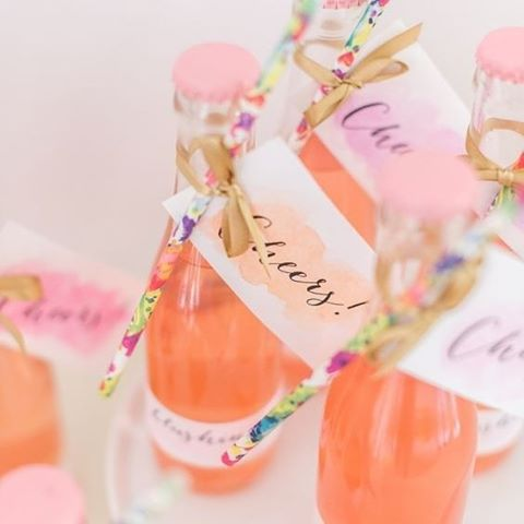 Make sipping fun with bottles, floral print straws and a happy messge for your guests #Fun #WeddingDecor #FloralPrint #Cheers #Refreshments #WeddingInspiration #WeddingPlanning #TheBridalCoach #KissesAndCake #KissesAndCakeWeddings #sydneybride #sydneywedding #bridalblogger #weddingblogger #inspiration | Image: RG @StyleMePretty