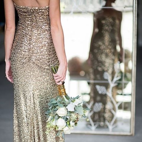 Who said a bride needed to wear white? If you are a non-traditional bride then opt for a little bit of sparkle for your wedding day. Alternatively this makes a great reception gown   Image: Mikkel Paige Photography   #gold #dress #bride #gown #wedding #thebridalcoach #weddingplanner #kissesandcake #beautiful #kissesandcakeweddings #sparkle #sydneybride #sydneywedding #bridalblogger #weddingblogger #inspiration