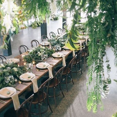 Natural elegance is really popular in wedding styling this year. We'd suggest using earthy tones, natural fibres and over grown plants such as ferns, succulents or palms to create a natural look indoors | #nature #wedding #trees #plants #bride #earth #styling #wood #planner #tables #decor #reception #thebridalcoach #kissesandcake #kissesandcakeweddings #sydneybride #sydneywedding #bridalblogger #weddingblogger #inspiration | Image: @thestyleco incredible styling... contact them to have them style your next event.