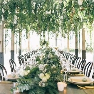 If you can't have an outdoor wedding, why not bring the outdoors in? #green #wedding #natural #centrepiece #hangingflowers #styling #event #planner #bride #thebridalcoach #kissesandcakeweddings #kissesandcake #flowers #sydneybride #sydneywedding #bridalblogger #weddingblogger #inspiration| Image:The style co