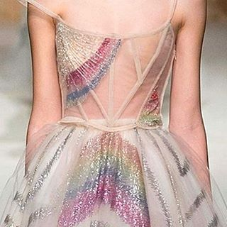 Surprise your guests with a rainbow @maisonvalentin gown - quite possibly the perfect option for a same sex marriage gown?! | #bride #valentino #bridetobe #wedding #gown #fashion #hautecouture #rainbow #samesexwedding #vogue #thebridalcoach #kissesandcakeweddings #kissesandcake #styling #sydneybride #sydneywedding #bridalblogger #weddingblogger #inspiration | Image:Vogue