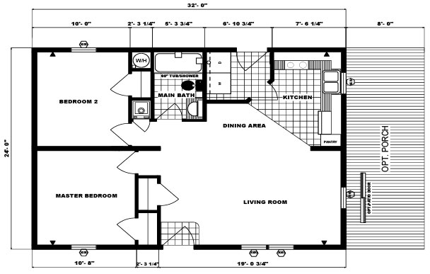 Pine grove homes g 291 for 24x32 house plans