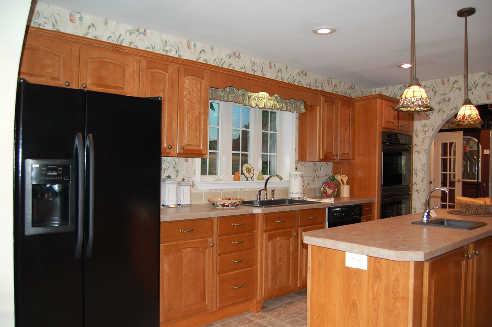 "GALLEY HEARTH WITH 22 CUBIC FOOT REFRIGERATOR AND 30"" ELECTRIC DOUBLE BUILT-IN WALL OVEN (ALL APPLIANCES OPT.)"