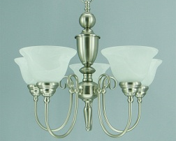 Providence 5-Light Pewter Dining Room Chandelier