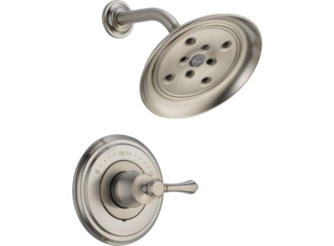 DELTA CASSIDY STAINLESS STEEL SHOWER FAUCET
