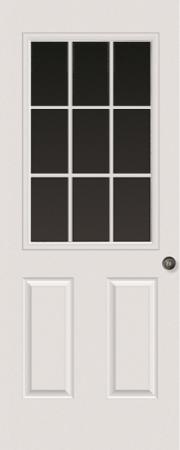 9-LITE DOOR GLASS: CLEAR