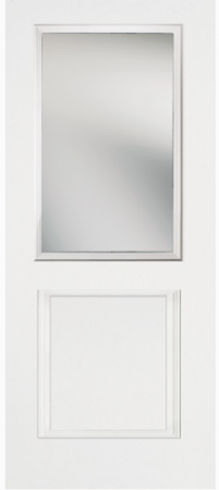 Beau TWO PANEL HALF LITE GLASS: ODL NOUVEAU