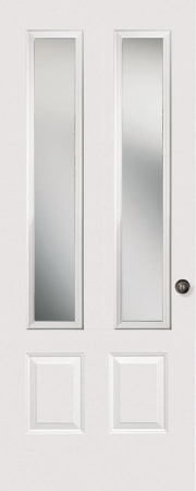 ¾ FOUR PANEL TWIN LITE GLASS: ODL NOUVEAU