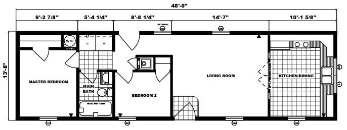 G-484 -14' x 48' - 656 sq. ft.