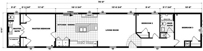 G-525 -14' x 76' - 1,038 sq. ft.