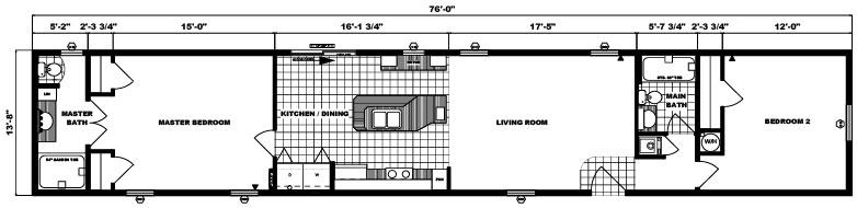 G-529 -14' x 76' - 1,038 sq. ft.