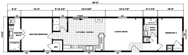 G-533 -14' x 68' - 929 sq. ft.
