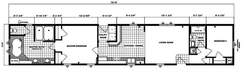 G-564 -14' x 76' - 1,038 sq. ft.