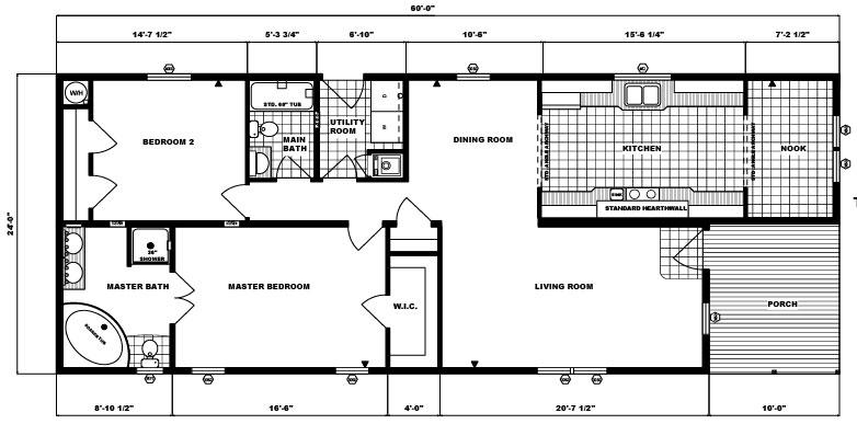 G-256 -24' x 60' - 1,392 sq. ft.