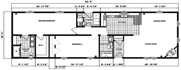 G-181 -20' x 64' - 1,280 sq. ft.