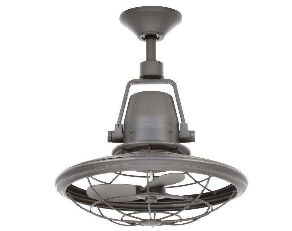 "Bentley II 18"" Natural Iron Oscillating Ceiling Fan"
