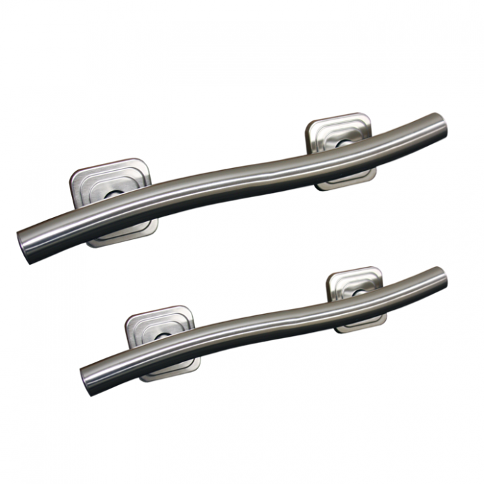 "18"" or 24"" Wave Grab Bar (available in chrome, stainless, or nickel)"