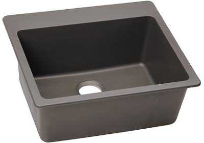 Elkay E-granite 25/22 Single Bowl w/matching drain - Greige
