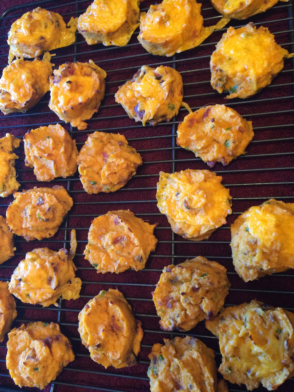bacon and chive sweet potato biscuits were my addition to the thanksgiving spread last year, gluten free and paleo friendly