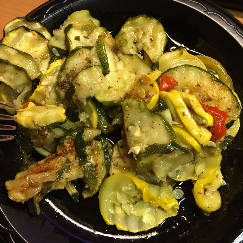 zucchini = carb source
