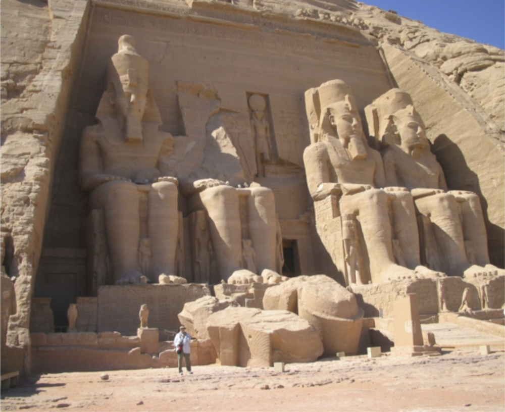 The entrance to thespectacular Temple of Abu Simbel