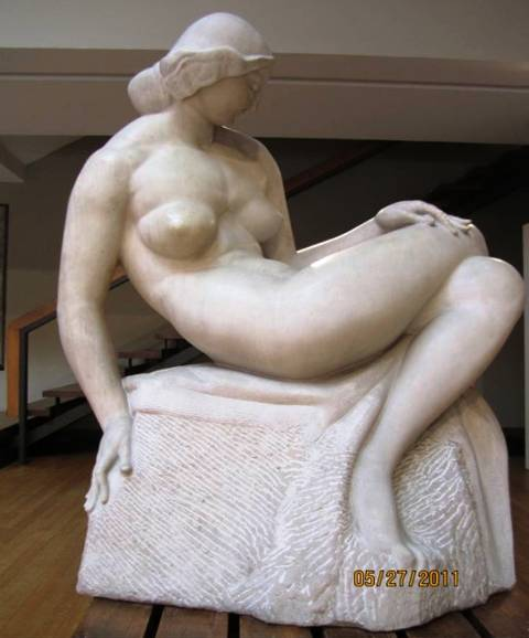 Sculptor: Mestrovic, entitled:' Woman on the Shore'