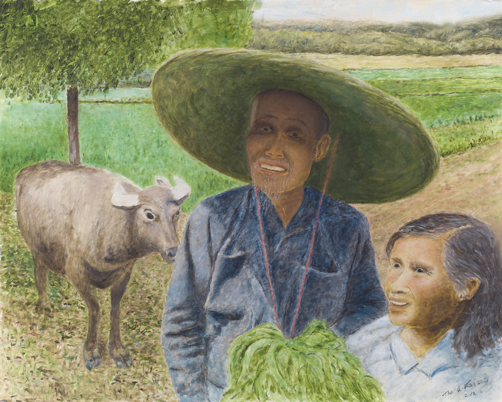Chines Rice Farmers in Quilin, China