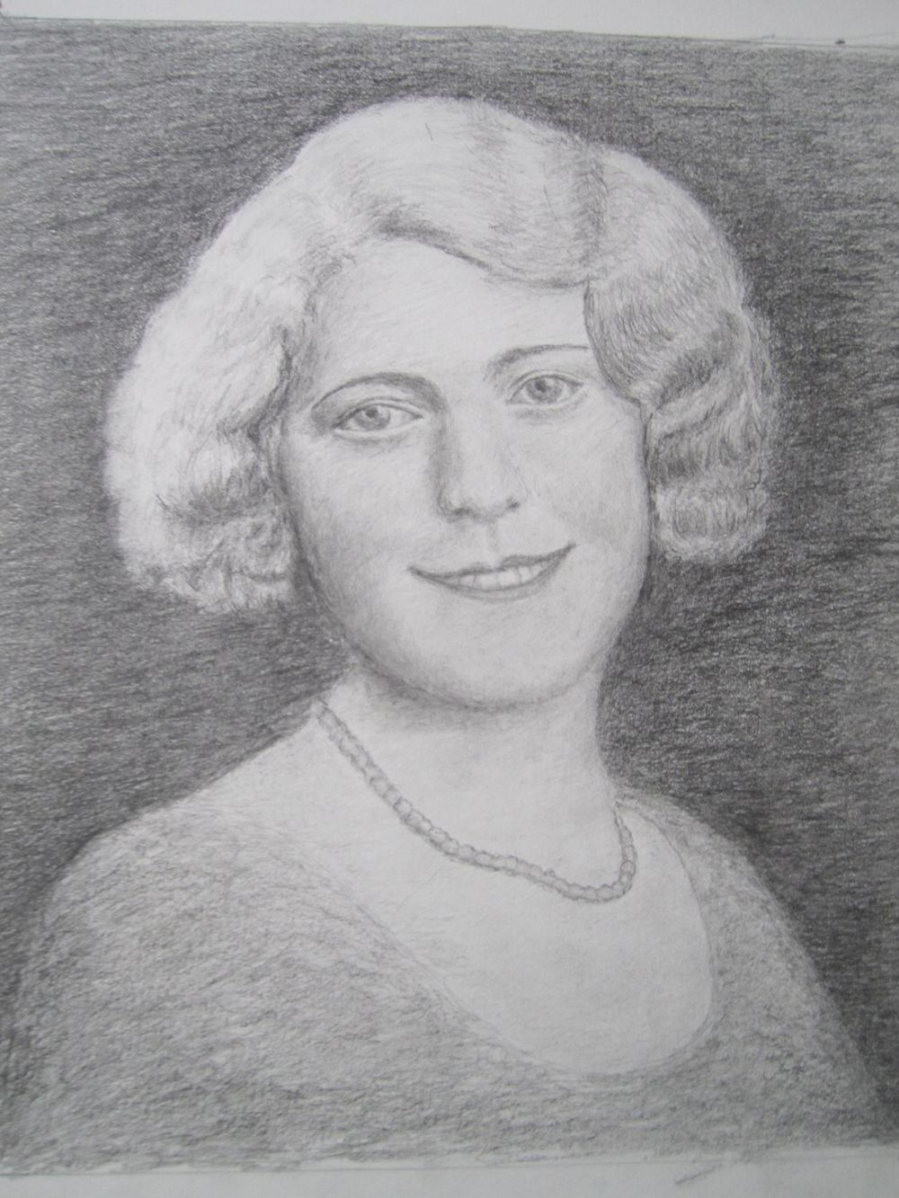 Drawing of my Mother when she was 20 years old and engaged