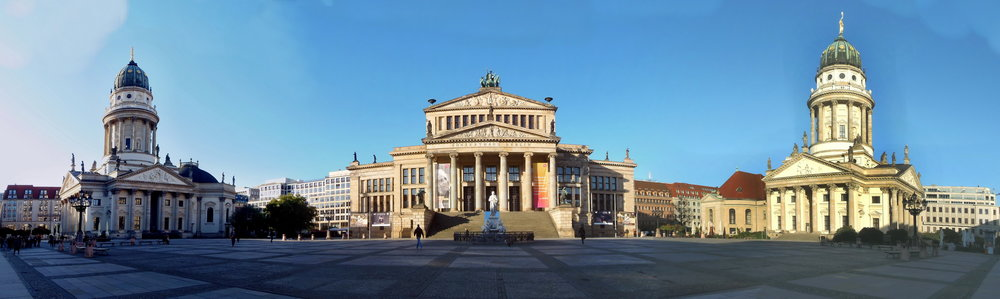Panoramic view of Gendarmenmarkt Platz