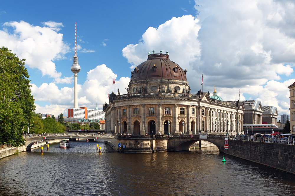 Museum Island surrounded by the Spree Canal