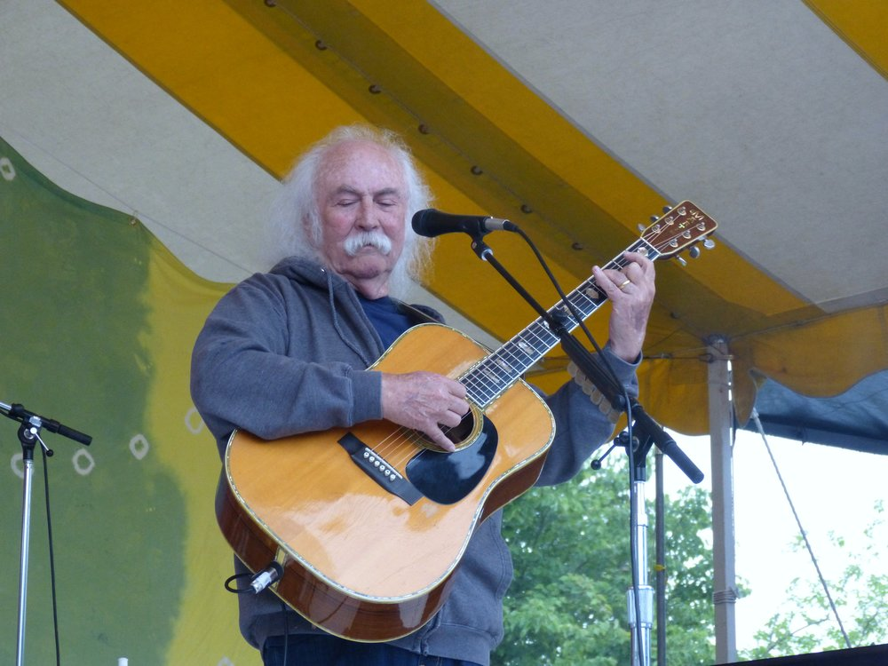David Crosby at 2015 Clearwater Festival