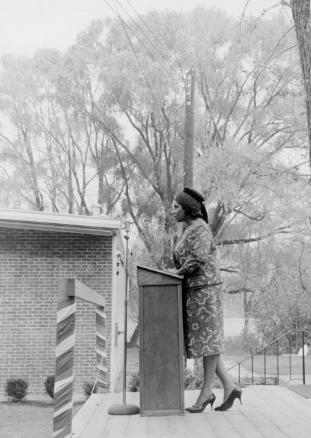 Marian Anderson in 1963 at Huntington Hall