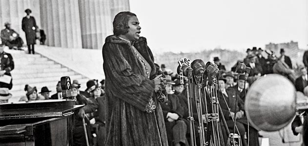 Marian Anderson at Lincoln Memorial