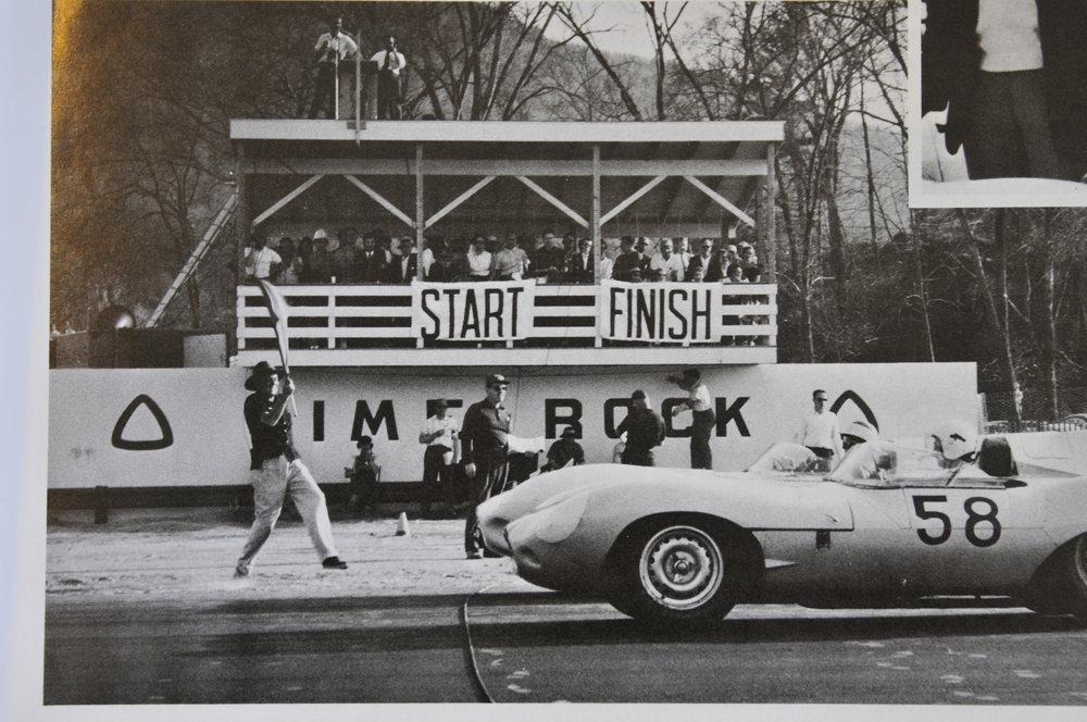 "Start of the ""big-bore"" feature race, first-ever race weekend, April 1957"