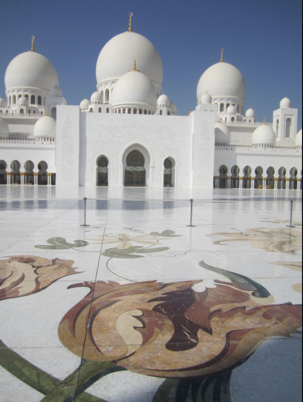 Sheik Zayed Mosque in Abu Dhabi