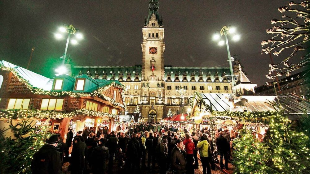 Weihnachtsmarkt in Hamburg, Germany