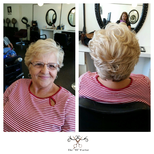 Thank you Iris for my AWESOME hair cut! Th IT Factor is the place to go! Wishing you all the best Always! Lucia F.