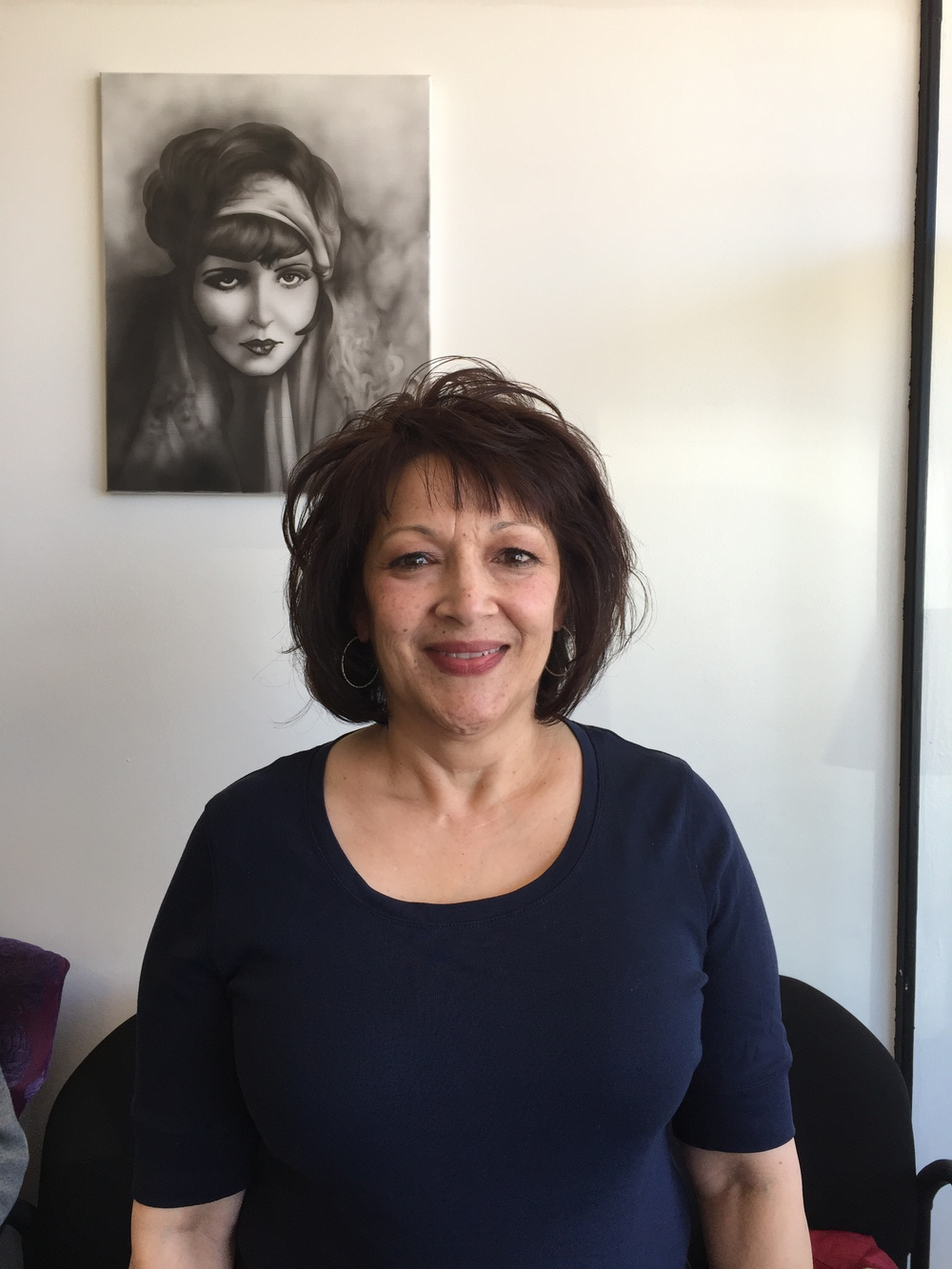 """""""This is my aunt and for her birthday I gave her a make over at the IT FACTOR. What a hit!So thankful for the time and work Iris spent on making my aunt feel beautiful. Best Gift ever! Thanks again Iris! Diana Ballaro, April 2015"""