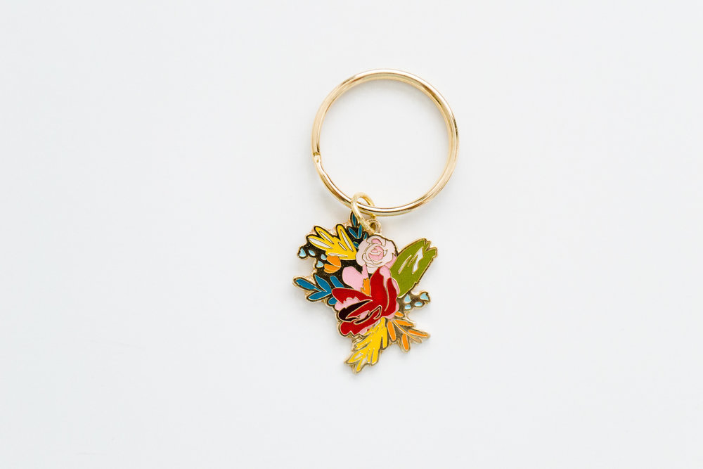 You may also love... - the Floral Enamel Keychain. It makes your keys prettier.