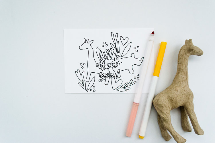 Coloring Thank You Cards Give With Joy