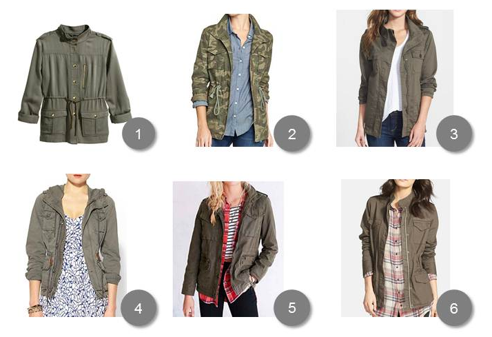 1. H&M / 2. Old Navy / 3. Nordstrom / 4. Piperlime / 5. Urban Outfitters / 6. Nordstrom
