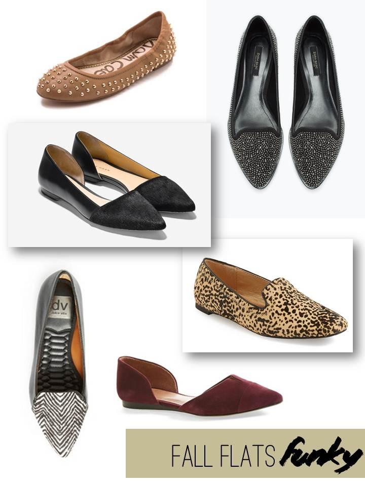 Sam Edelman / Zara Patterned Moccasin / Cole Haan Amalia Skimmer / Dr. Scholl's Deltoro Flat / Lex Loafer Flat / Vince Camuto D'Orsay Flat
