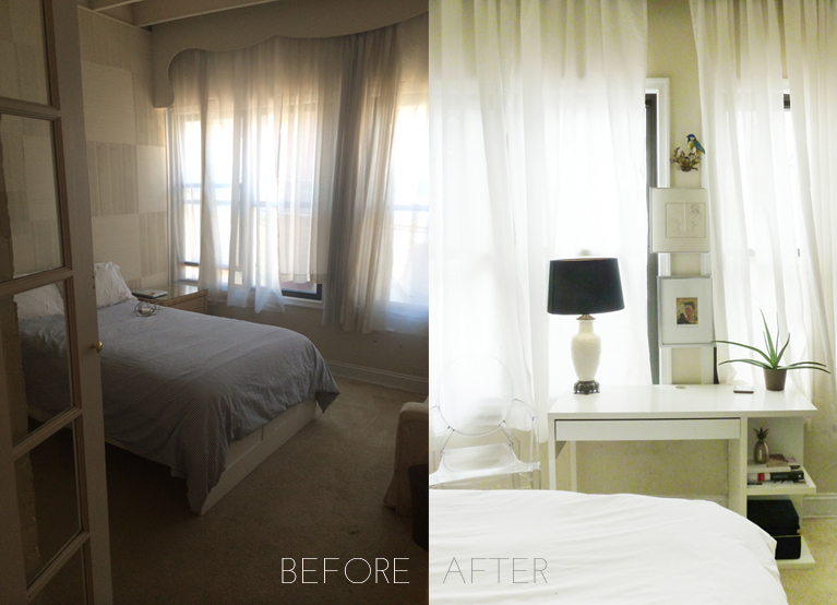before and after interiors | champagne takeout