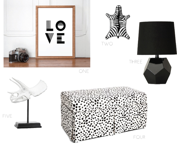 Black and White Home Accessories | Champagne Takeout