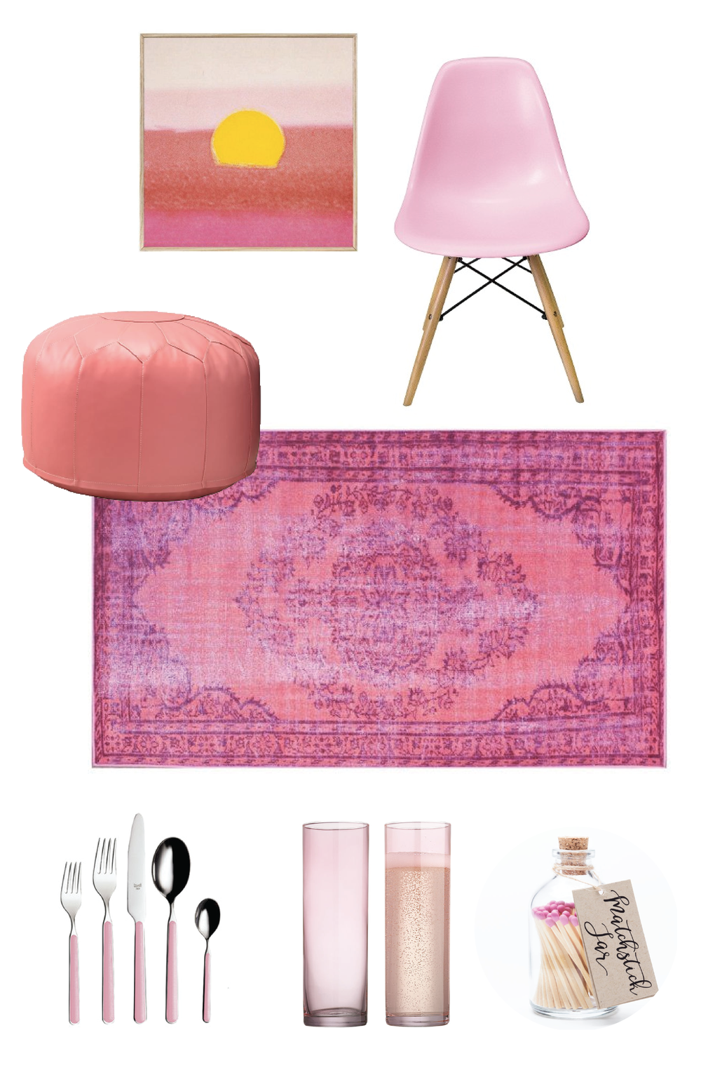 Color Theory - Fuschia | Champagne Takeout