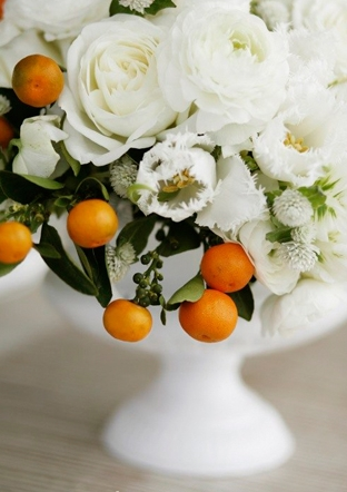 kumquat florals via loverly